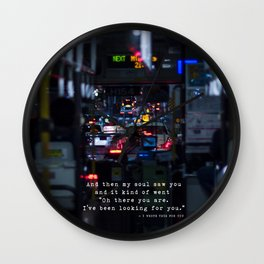 The Point Of Contact Wall Clock