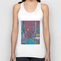 seoul Tank Tops featuring Seoul City #2 by Rob McClelland