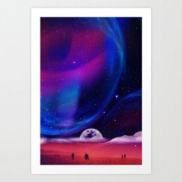Lunar walk Art Print