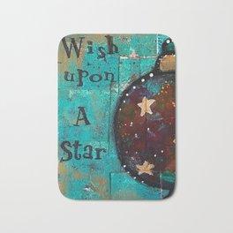 """Wish Upon A Star"" Original Painting by Krista J. Brock Bath Mat"