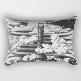 Lord of the Rings Mordor Tower Vintage Geek Art Rectangular Pillow