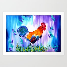 Rooster and Proud Art Print