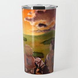 Shingashina trio: sunset Travel Mug