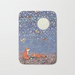 moonlit foxes Bath Mat
