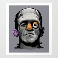 Mr Frankie Head Art Print
