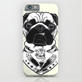 Dog - Tattooed Pug iPhone Case
