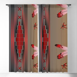 Dragonfly (Red) Blackout Curtain