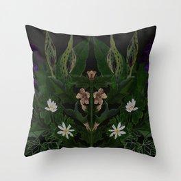 The Poison Garden - Datura Throw Pillow