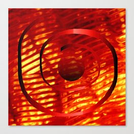 Red Spiral Canvas Print