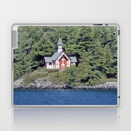 St Isaac Jogues Chapel, Hecker Island (Lake George, NY) Laptop & iPad Skin