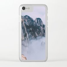 Mountains #fog #society6 Clear iPhone Case