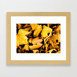 """Scattered Leaves""  Framed Art Print"
