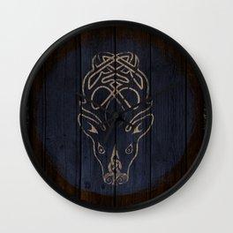 Deer Shield Wall Clock