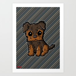 Troy - Silky Terrier Art Print