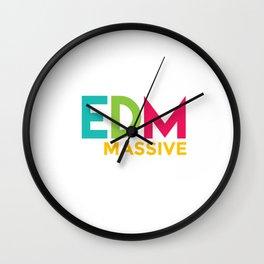 EDM Massive Electronic Dance Music Club Disco Party DJ Dancing Clubbing Gift Wall Clock