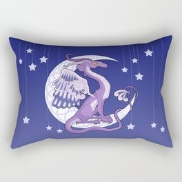 Vendel Dragon - the moon Rectangular Pillow
