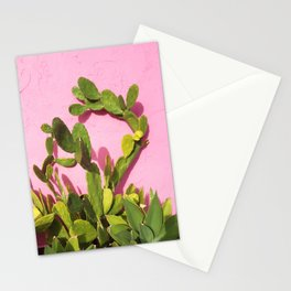 Pink Wall/Green Cactus  Stationery Cards