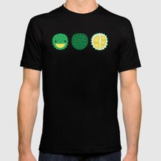 Dotty Durians II - Singapore Tropical Fruits Series MEDIUM Black Mens Fitted Tee