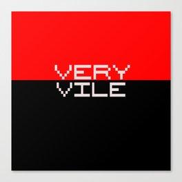 Very Vile (nu)logo Canvas Print