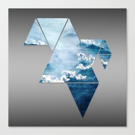 Fragmented Clouds Canvas Print