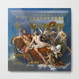 """Jacques-Louis David """"Mars Disarmed by Venus and the Three Graces"""" Metal Print"""
