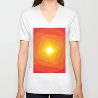 gradient V-neck T-shirts featuring Gradient Sun by Fimbis