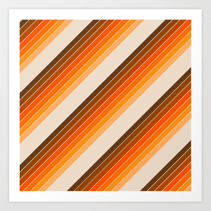 Tan Candy Stripe Kunstdrucke