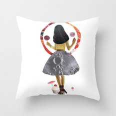 dancing on the moon Throw Pillow