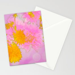 Pink & Gold Floral Stationery Cards