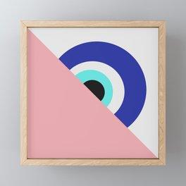 Devil eye pink hide Framed Mini Art Print
