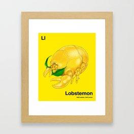 Ll - Lobstemon // Half Lobster, Half Lemon Framed Art Print