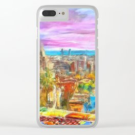 Park Guell Barcelona Clear iPhone Case
