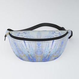 Crystal Blue Decorative Mandala Fanny Pack