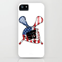 A Sports Tee For Sporty You With An Illustration Of A Helmet American Flag T-shirt Design America iPhone Case