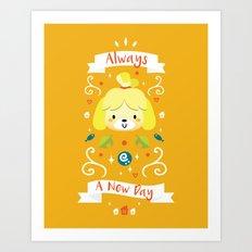 Animal Crossing: Isabelle Art Print