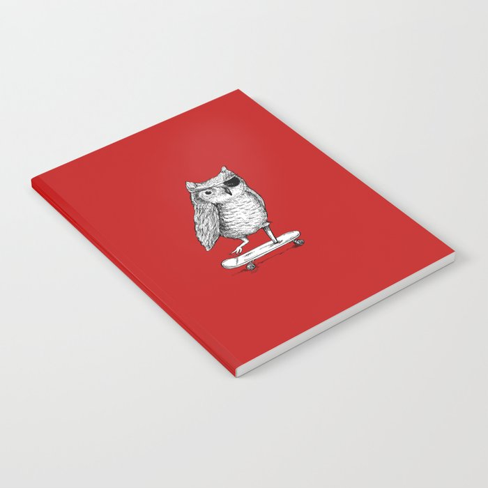 Ride On Owl_red Notebook