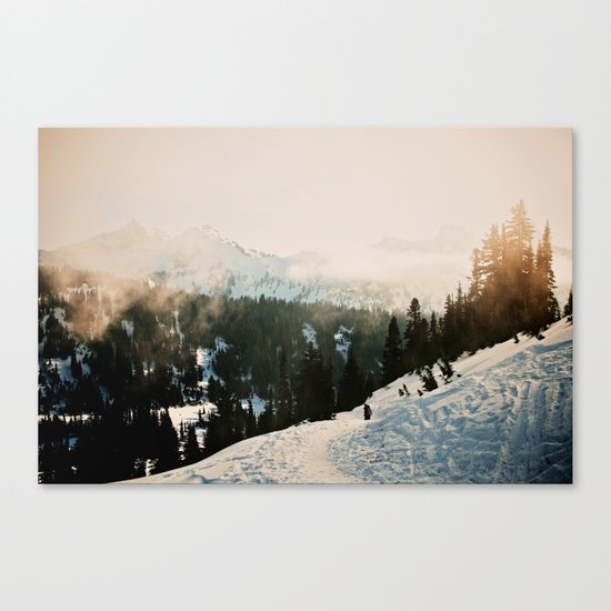 Winter Mountain Hike Canvas Print