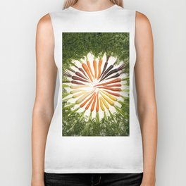 Carrot Color Wheel Biker Tank