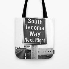 South Tacoma Way exit Tote Bag