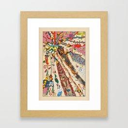 Stream Of Samples Framed Art Print