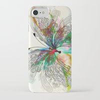butterfly iPhone & iPod Cases featuring Butterfly by Klara Acel