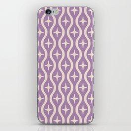 Mid century Modern Bulbous Star Pattern Lavender iPhone Skin