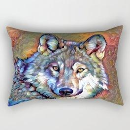 Aura of the Wolf Rectangular Pillow