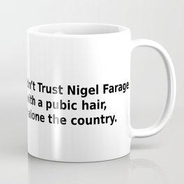 The trust I would give Nigel Farrage Coffee Mug