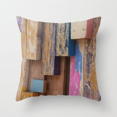 Paint Sticks Throw Pillow