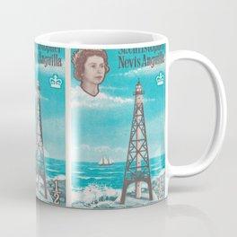 Sombrero light house, Nevis Anguilla british post stamp Coffee Mug
