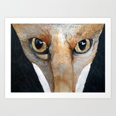 Fox Eyes Art Print