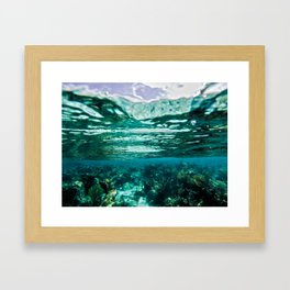 Caribbean Layers  Framed Art Print