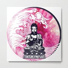 Smokey Buddha Wave Metal Print