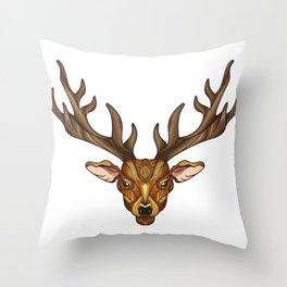 Deer Park- MI_Brown Throw Pillow